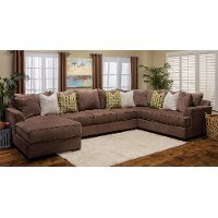 Fortune Brown Upholstered 3-Piece Sectional