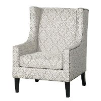 Tan and White Wingback Accent Chair - Biltmore