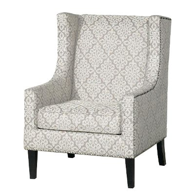 Wonderful Traditional Tan Wingback Accent Chair   Biltmore