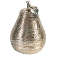 7 Inch Silver Pear Sculpture