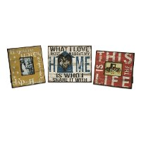 Assorted Home, Happy or Life Picture Frame
