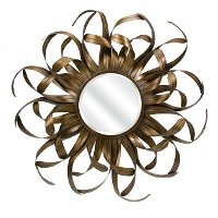 Kalaiya Gold Leaf Wall Mirror