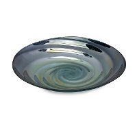 Blue Swirl Glass Tray