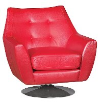 Thomas Red Swivel Barrel Chair - Ontario