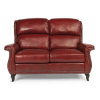 Sting Ray 62 Quot Red Leather Loveseat Rc Willey Furniture Store