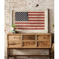 Large Framed American Flag