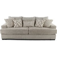 Casual Contemporary Oatmeal Sofa - Renegade