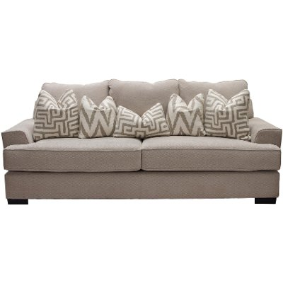 Casual Contemporary Oatmeal Sofa