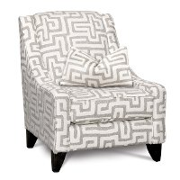 Contemporary Oatmeal & Cream Accent Chair - Renegade