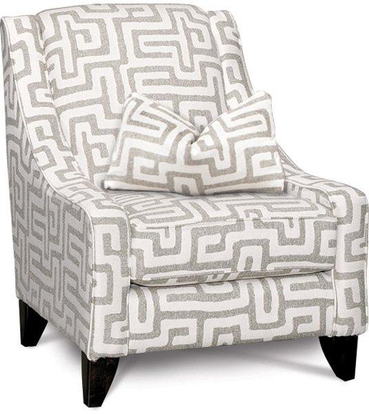 ... Contemporary Oatmeal U0026 Cream Accent Chair   Renegade