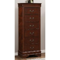 mayville brown cherry traditional lingerie chest of drawers