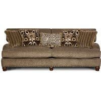 Traditional Mink Brown Sofa - Prodigy
