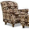 Clearance Traditional Brown & Black Accent Chair - Prodigy