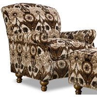 Traditional Brown & Black Accent Chair - Prodigy