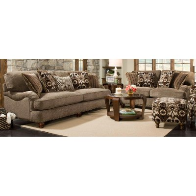 Traditional Mink Brown 2 Piece Living Room Set - Prodigy   RC Willey ...
