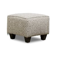 Pewter Pattern Contemporary Accent Ottoman - Lavish