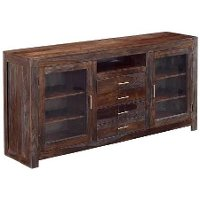 67 Inch Rustic Brown TV Stand - Grayson Collection