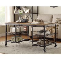 60 Inch Industrial Writing Desk - Iron Works