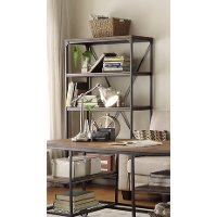 40 Inch Industrial Book Case - Iron Works Collection