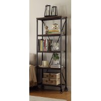 26 Inch Industrial Book Case - Iron Works Collection
