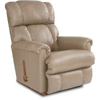 10-512/LB133465 Tan Leather-Match Manual Rocker Recliner - Pinnacle