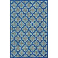 5 x 8 Medium Navy Blue Indoor-Outdoor Rug - Raphia II