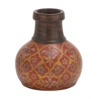10 Inch Terracotta Painted Vase