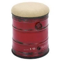 18 Inch Red Metal Stool
