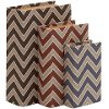 6 Inch Wood and Vinyl Chevron Book Box