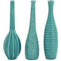 Assorted 12 Inch Blue Ceramic Vase