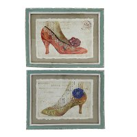 Assorted High Fashion High Heel Framed Wall Art