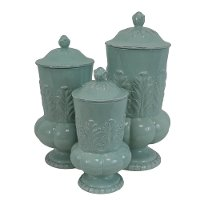 10 Inch Mint Lidded Canister