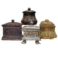 Assorted Ornate Resin Jewelry Box