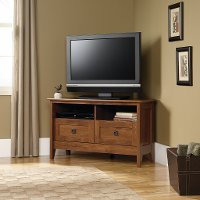 Oiled Oak Corner TV Stand - August Hill