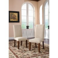 Upholstered Parsons Chair Pair - Carson Forge
