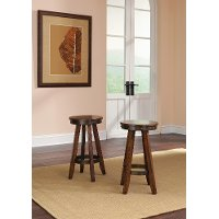 Cherry 24 Inch Counter Stool (Set of 2) - Carson Forge