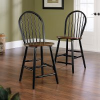 Black Counter Stool (Set of 2) - Edge Water