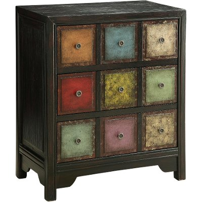Multi Color 3 Drawer Bohemian Chest