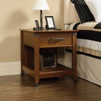 Cherry 1-Drawer Nightstand - Carson Forge