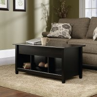 Black Lift Top Coffee Table - Edge Water