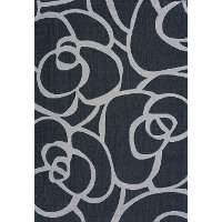 8 x 11 Large Charcoal Gray and Silver Indoor-Outdoor Rug - Solarium