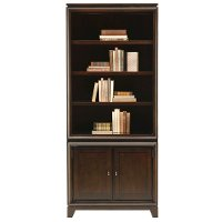 78 Java Brown Bookcase with 2 Doors- Viewscape Collection