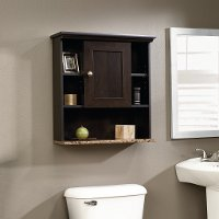 Cinnamon Cherry Wall Cabinet - Peppercorn