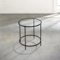 Black/ Glass Side Table - Harvy Park