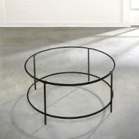 Coffee Table - Black - Clear Glass - Harvy Park
