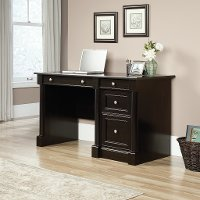 Black Oak Computer Desk - Padillia