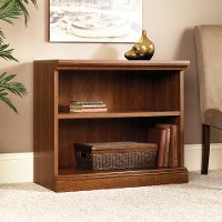 Planked Cherry 2-Shelf Bookcase - Camden County