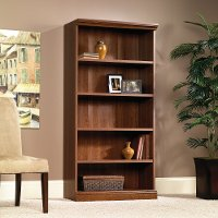 Planked Cherry 5-Shelf Bookcase - Camden County
