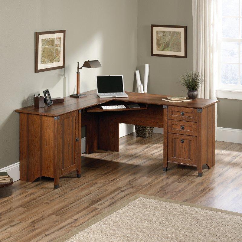 Cherry Corner Computer Desk - Carson Forge