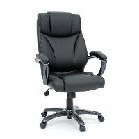 Black Leather Deluxe Executive Chair - Gruga